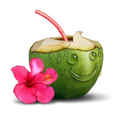 Naklejka Szczęśliwy Tropical Drink Concept