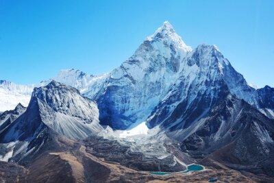 Naklejka Szczyt Everest. Najwyższa góra na świecie. Park Narodowy, Nepal.