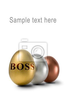 Szef złota jaja, srebro i brąz