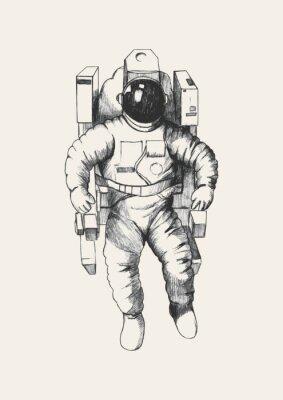 Naklejka Szkic ilustracji astronauty