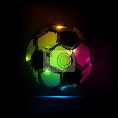 Szkic Soccer ball lekka konstrukcja łatwa wszystkie edytowalne