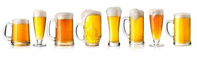 Naklejka szklankę piwa