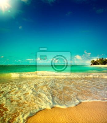 Naklejka Sztuka Lato nadmorska plaża