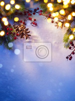 Sztuka śnieg Boże Narodzenie;