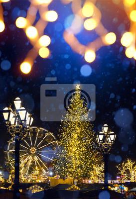 sztuka świąteczny rynek świąteczny; Choinka i Stare Miasto;