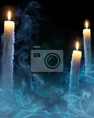 sztuka świeczki dla Halloween party