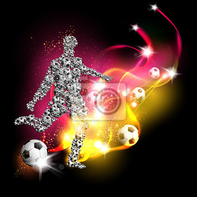 sztuka tło piłka nożna