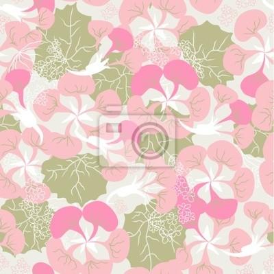 szwu ornament różowy Begonia