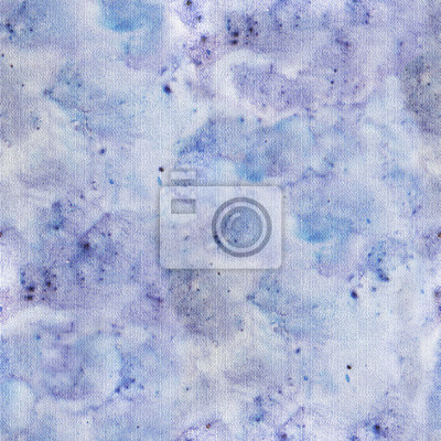 szwu z abstrakcyjnym niebieski denim tekstury. Niebieski waterclor splash na płótnie