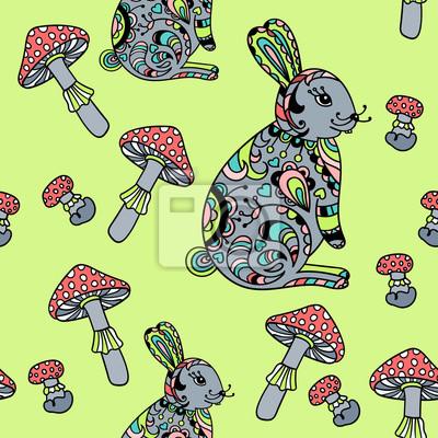 Szwu z grzybami i królika.