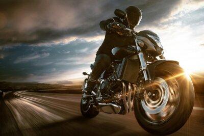 Naklejka Szybki motocykl