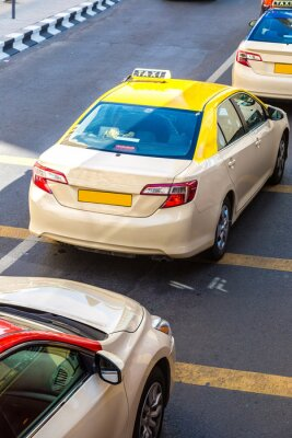 Naklejka Taksówki w Dubaju