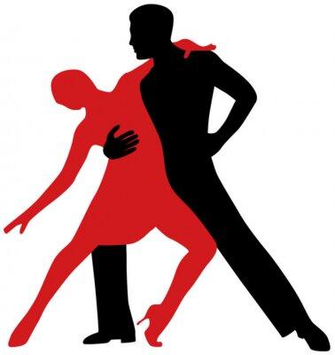 Naklejka Tancerze tanga