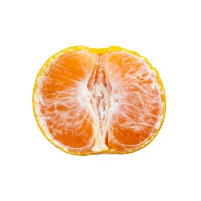 Tangerine na białym tle.