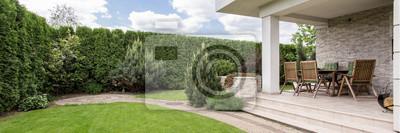 Naklejka Taras z meblami ogrodowymi
