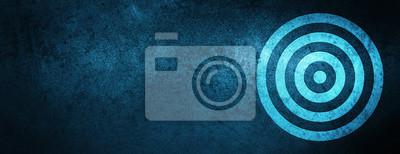 Naklejka Target ikona specjalny niebieski transparent tło