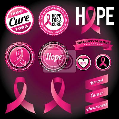 Taśmy raka piersi świadomości i Odznaki
