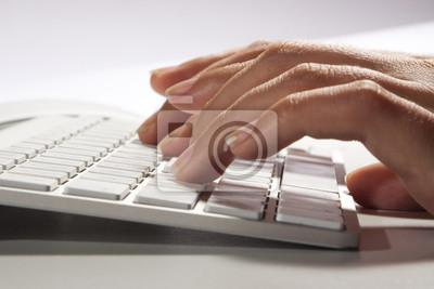 Naklejka Tastatur & Hände
