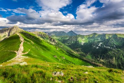 Naklejka Tatry szczyty w słoneczny dzień