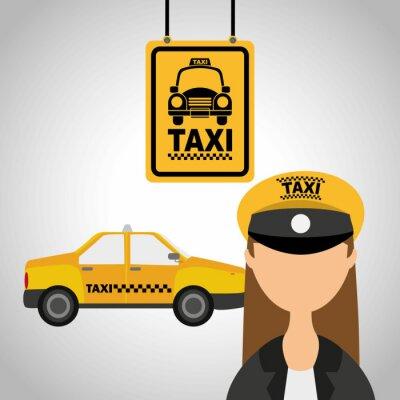Naklejka taxi
