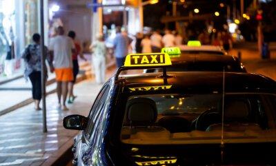 Naklejka Taxi podpisania w nocy
