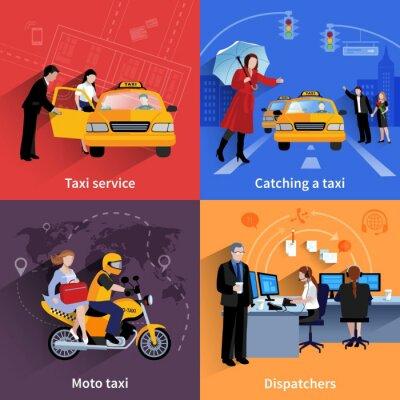 Naklejka Taxi Service 2x2 Banery Ustaw