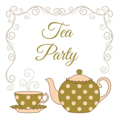 Naklejka Tea Party karty