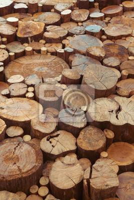 Teak wood stumps background