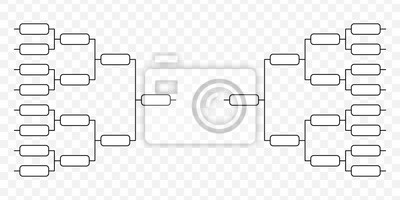 Naklejka Team Tournament bracket
