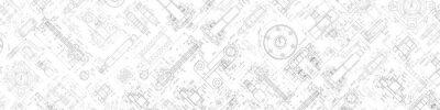 Naklejka Technical drawing background .Mechanical Engineering background . . Technology Banner.Vector illustration .