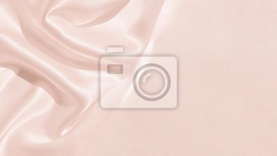 Naklejka Tekstura satynowej tkaniny w kolorze różowym na tle