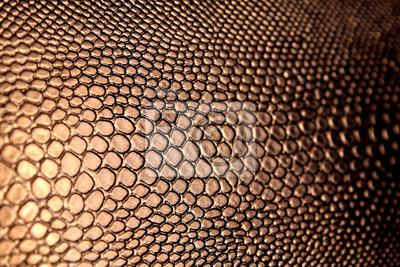 Naklejka tekstura sztucznej brązowej skóry węża