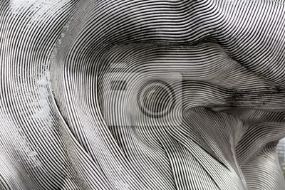 Naklejka Tekstury tła lśniącej powierzchni metalu. Zakrzywiona płyta jest wykonana z żeliwa.