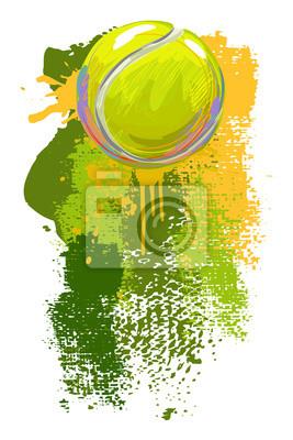 Tenis Ball Banner Wszystkie elementy są w oddzielnych warstwach i pogrupowane.