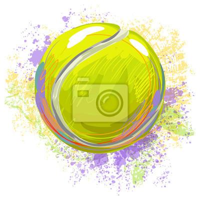 Tenis Ball Wszystkie elementy są w oddzielnych warstwach i pogrupowane.