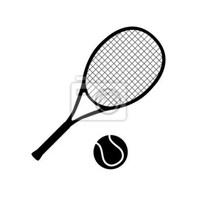 Naklejka Tenis ikona, logo na białym tle
