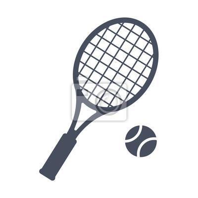 Naklejka Tenis, ilustracji wektorowych w stylu modnej płaskiej