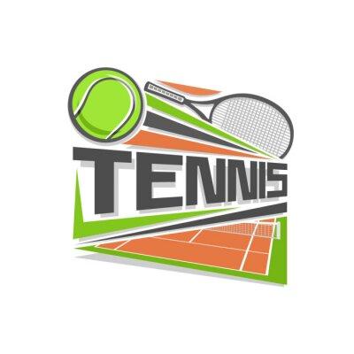 Naklejka Tenis logo