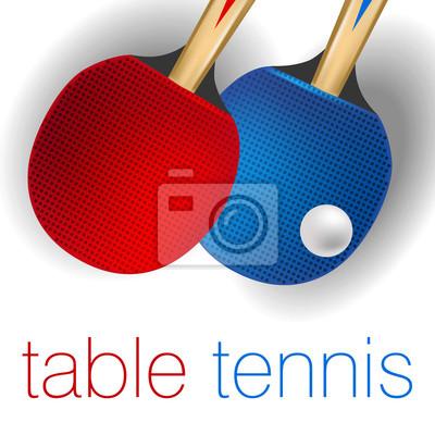 Tenis stołowy Wszystkie elementy są w oddzielnych warstwach i pogrupowane.