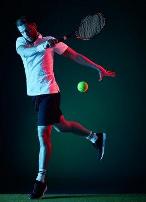 Naklejka tenisista mężczyzna samodzielnie