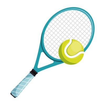 tenisowy kant i piłka odizolowywający ikona wektorowy ilustracyjny projekt
