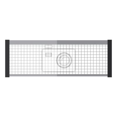 Naklejka tenisowy netto ikona wizerunku wektorowy ilustracyjny projekt