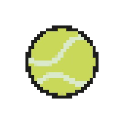 Naklejka tennis ball 8 bits pixelated style icon