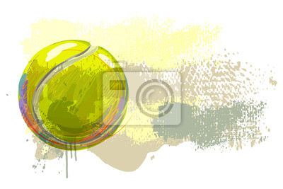 Tennis Ball Banner All elements are in separate layers and grouped.