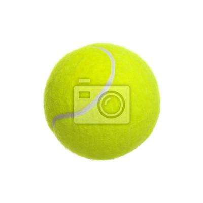 tennis ball on white