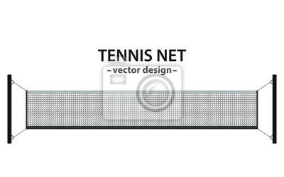 Naklejka Tennis net vector design illustration isolated on white background