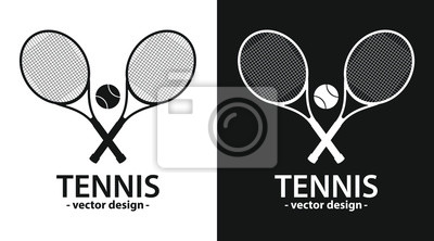 Naklejka Tennis racket vector design illustration isolated on background