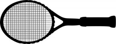 Naklejka Tennis racket vector illustration on white background