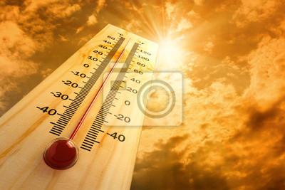 Naklejka Termometr w niebo, ciepło