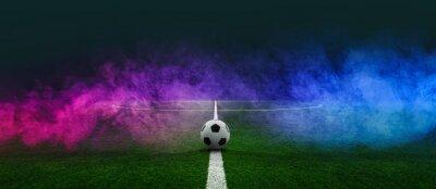 Naklejka textured soccer game field - center, midfield